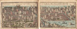 Panoramic Map of Osaka from 1883
