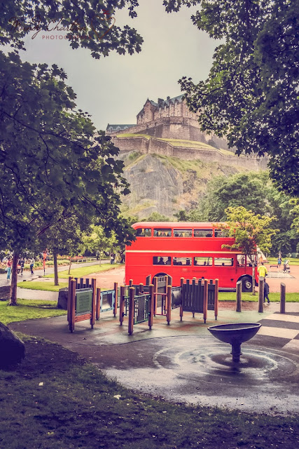 Bus in Princes Street Gardens, Edinburgh