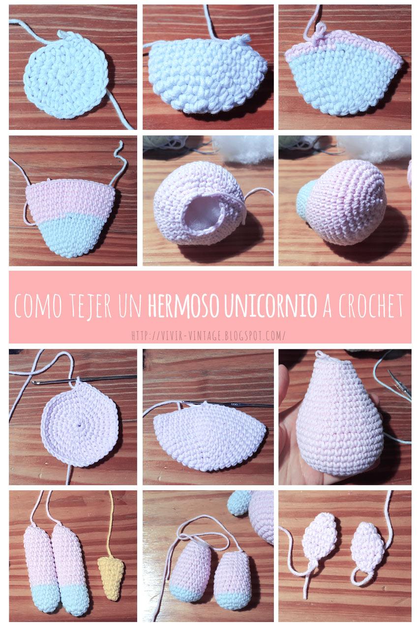 fototutorial crochet unicornio