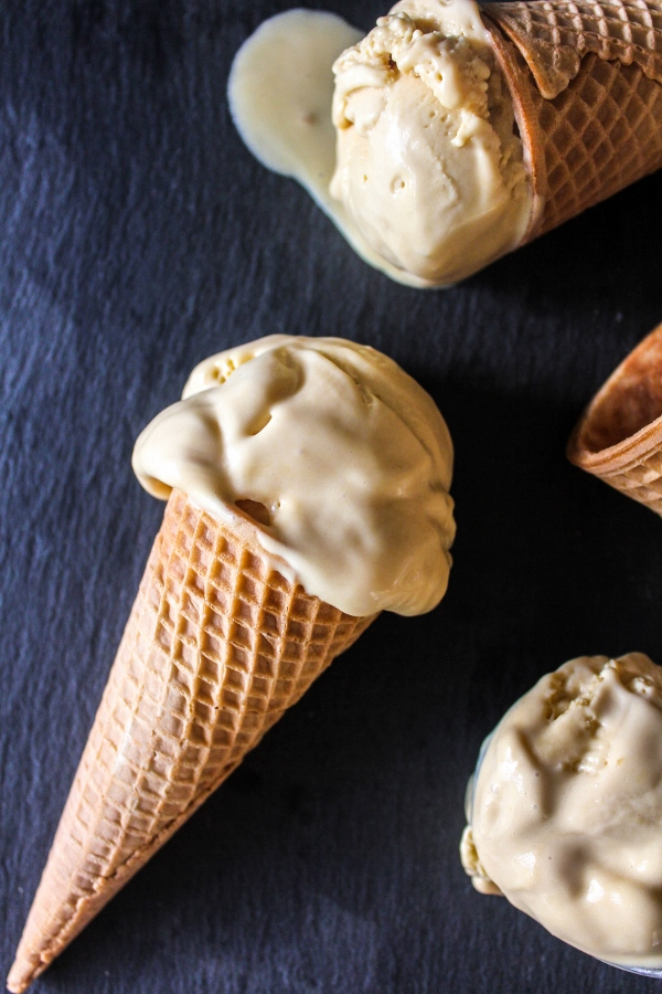 This rich and decadent Sea Salt Caramel Ice Cream is the perfect balance of salty and sweet and is so easy to make!