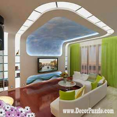 Top ideas for led ceiling lights for false ceiling designs Led lighting ideas for living room