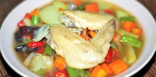 resep sop sayap ayam