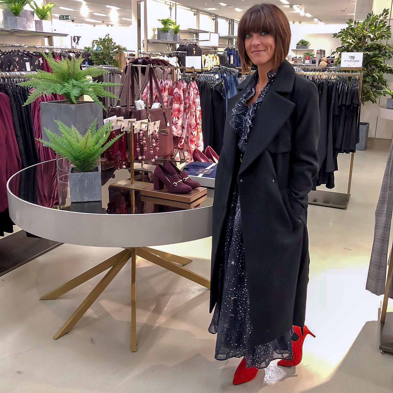my midlife fashion, marks and spencer wool blend belted wrap coat