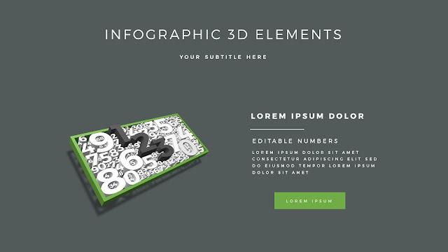 Fully Editable 3D Design Elements for PowerPoint Slide5