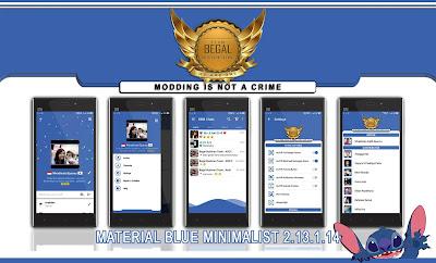 BBM Material Blue Minimalist v2.13.1.14 APK