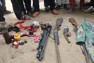 SHRINE DEMOLISH, CULTISTS SURRENDER WEAPONS AND CHARMS IN PORT HARCOURT