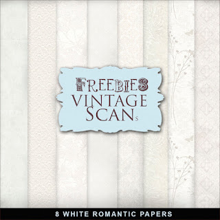 Freebies White Romantic Papers Kit