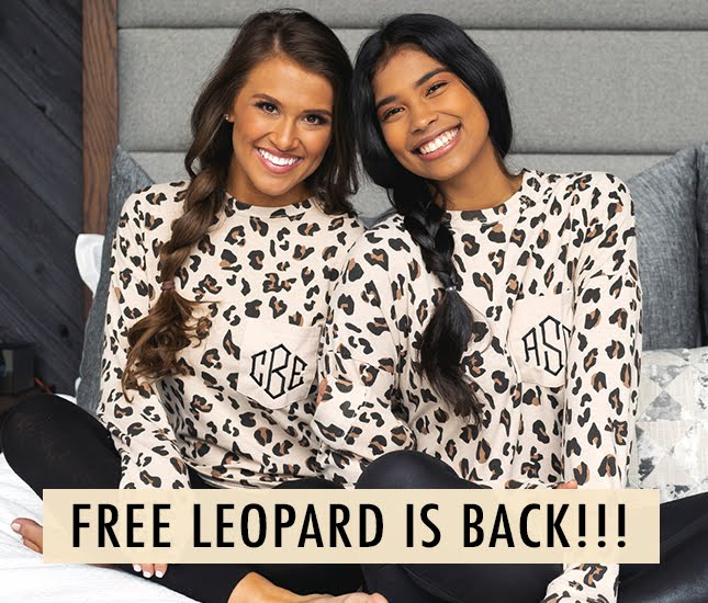 long sleeve tshirt with leopard pattern