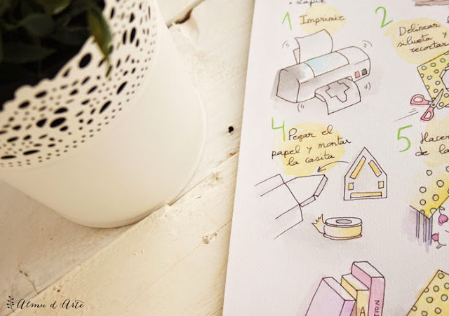 Diy casita de papel
