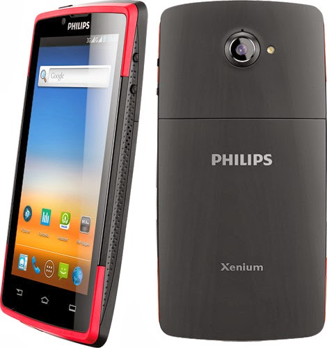 Philips W7555,Camera 8 MP Android Dual SIM Layar IPS 4.5 Inci