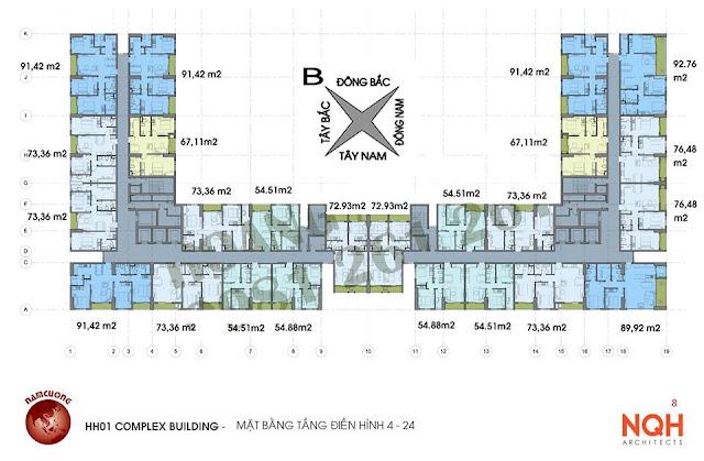 Sơ đồ thiết kế chung cư Anland