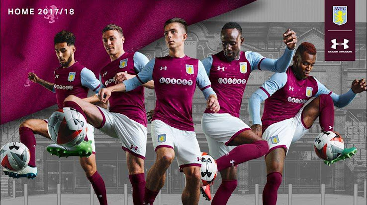 reputable site bc04c 3bf41 Aston Villa 17-18 Home Kit Released - Footy Headlines