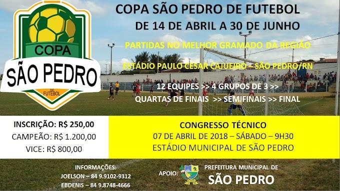 Vem aí a Copa São Pedro de Futebol