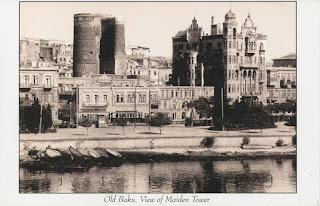 baku, Qız Qalası, Giz Galasi, postcard