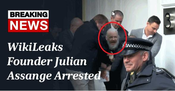 Julian Assange - nhà sáng lập WikiLeaks chính thức bị bắt - CyberSec365.org