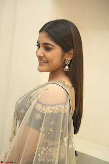 Niveda Thomas in Lovely Blue Cold Shoulder Ghagra Choli Transparent Chunni ~ Exclusive Celebrities Galleries 003