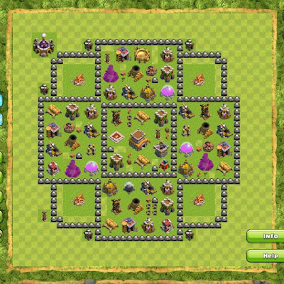 Formasi Base TH 8 COC Terkuat di Dunia