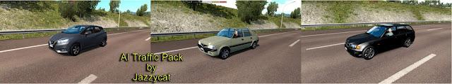 ets 2 ai traffic pack v9.3 screenshots 1, Nissan Micra '17, BMW E46 Touring, Dacia Solenza