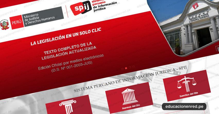 SPIJ: Descarga más de 500 mil normas actualizadas desde el celular y la web del Sistema Peruano de Información Jurídica - www.spijweb.minjus.gob.pe