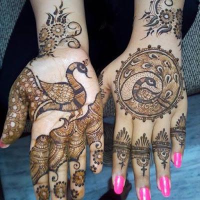 Peacock Tail mehndi/mehendi designs for brides, wedding, parties, festivals