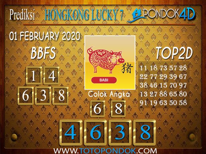 Prediksi Togel HONGKONG LUCKY7 PONDOK4D 01 FEBRUARY 2020