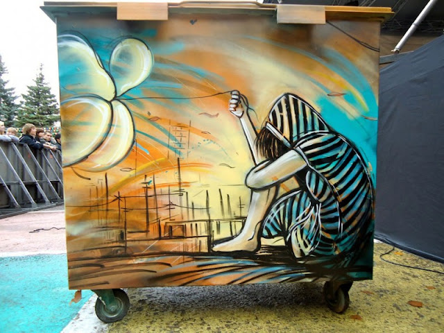 Рисунки на стенах. Alice Pasquini 20