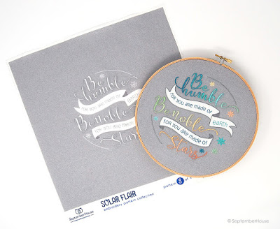 Embroidery Kits Space embroidery from SeptemberHouse