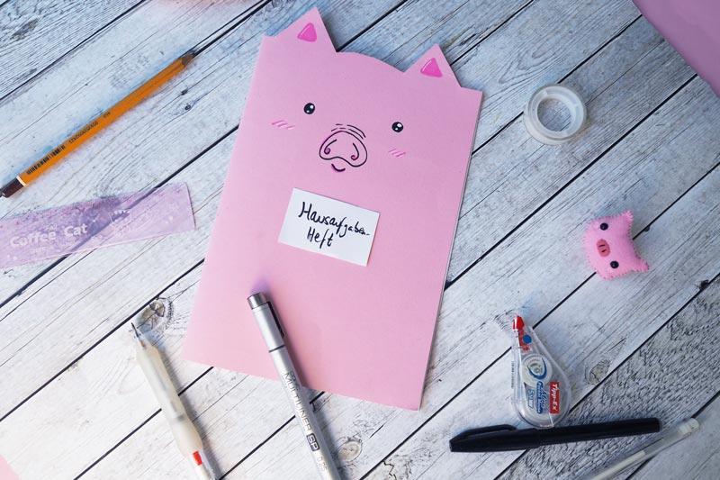 KuneCoco • DIY • Schweine-Notizheft