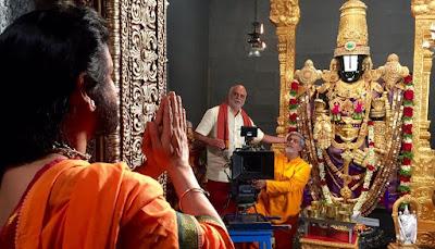 Nagarjuna OM Namo Venkateshaya Shooting Starts First look poster