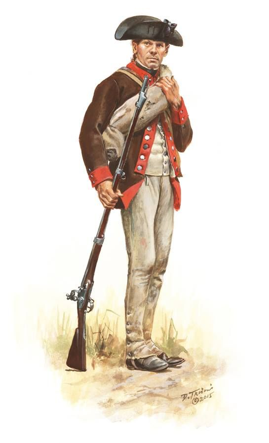 American soldier during the American Revolution