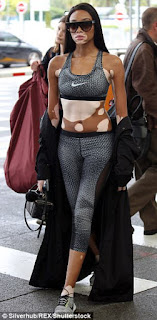 Model Winnie Harlow dazzles in gym wear