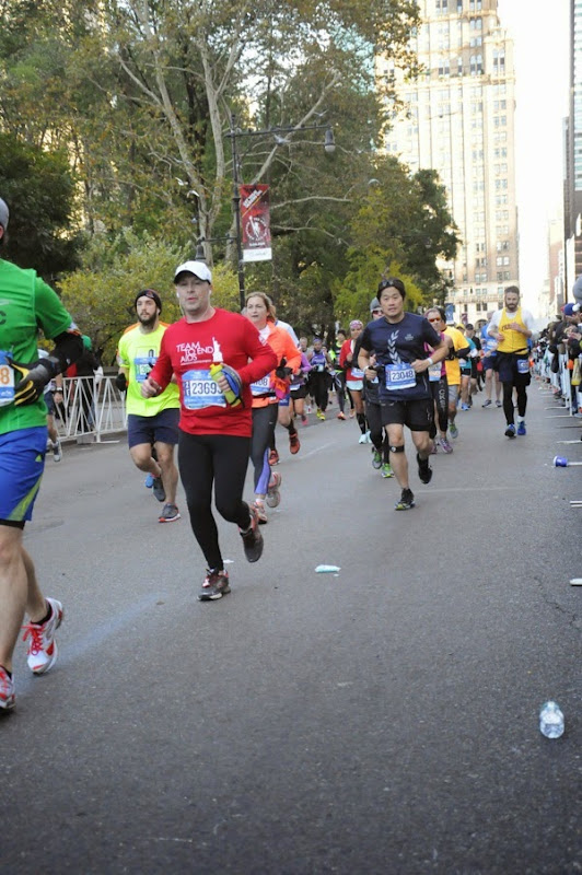 2014 New York Marathon charity runner