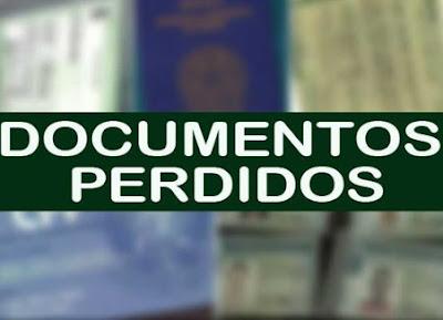 Rodrigo Lopes da Silva, perde carteira preta com documentos, em Mairi