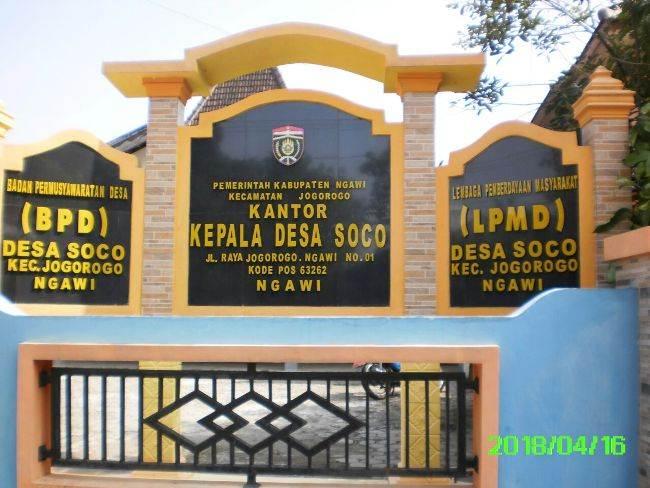 Profil Desa Soco Jogorogo Ngawi