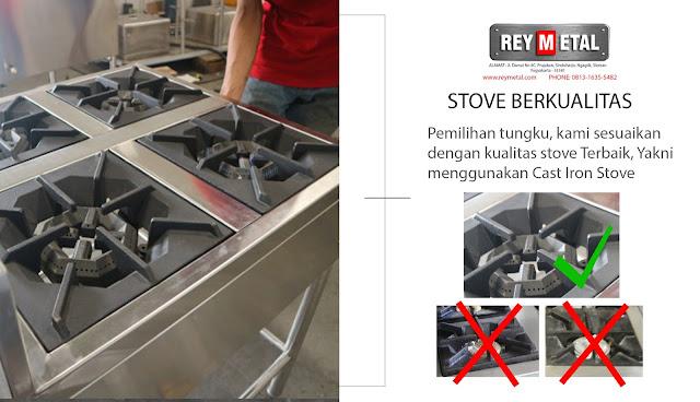 Jual Gas Stove 4 Tungku di Yogyakarta dan Jawa Tengah