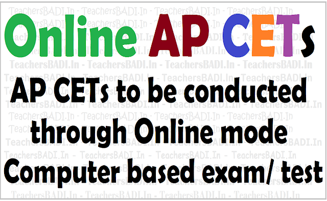 Online AP CETs,Computer based entrance exams, AP CETs Dates