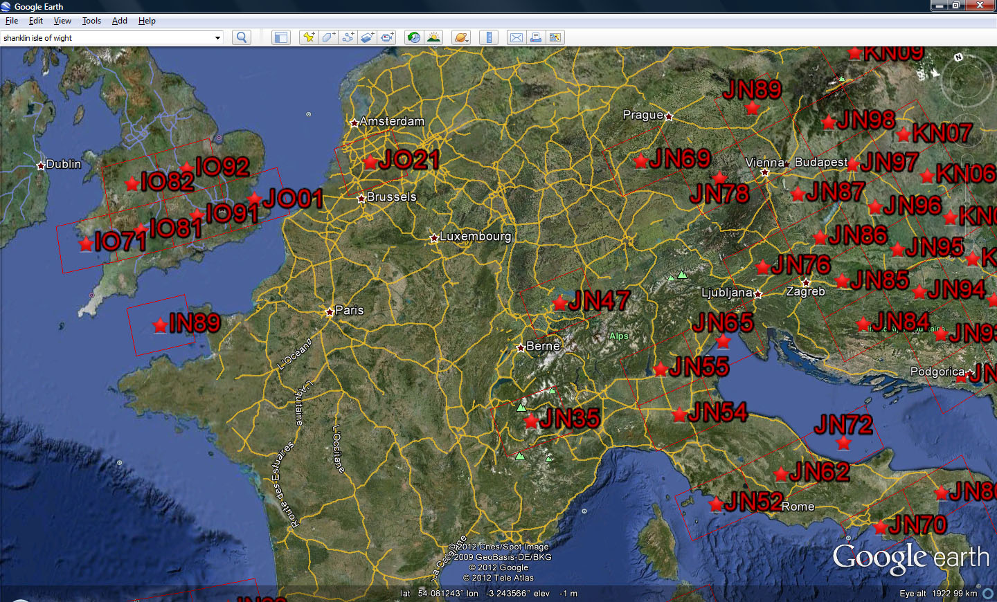 G4vxe Map Your Grid Squares Worked Using Wg7j Gridmapper