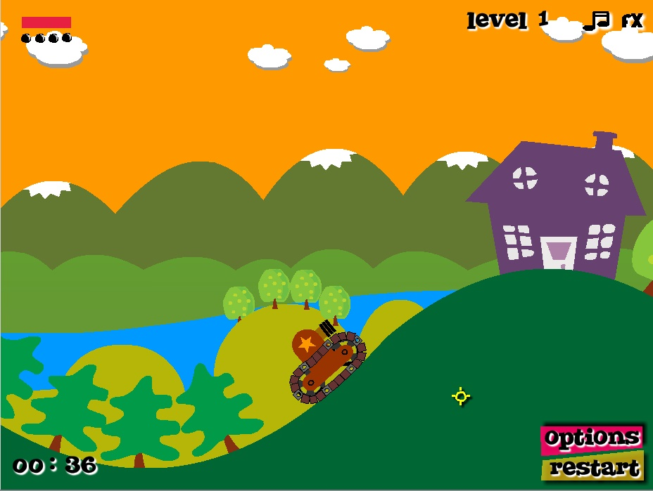 Tank In Action Play Free Online Facebook Game