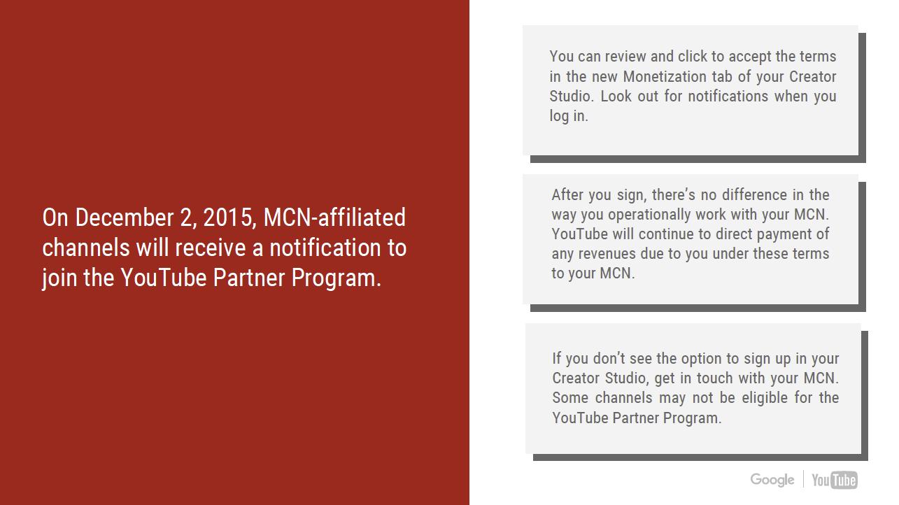 GTChannel Partner: YouTube Partner Program for MCN