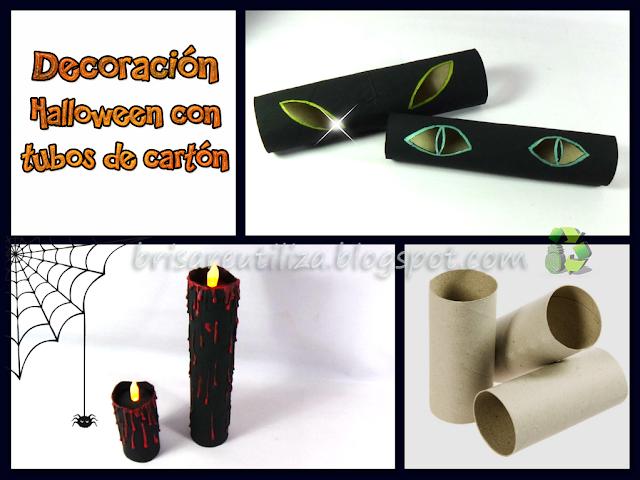 Decoración para Halloween 💀 con tubos de cartón