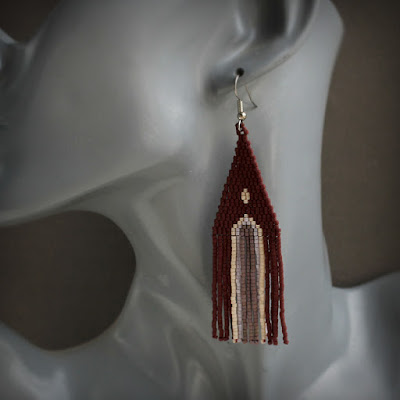 купить этно серьги ручной работы из бисера с доставкой в москву интернет магазин
