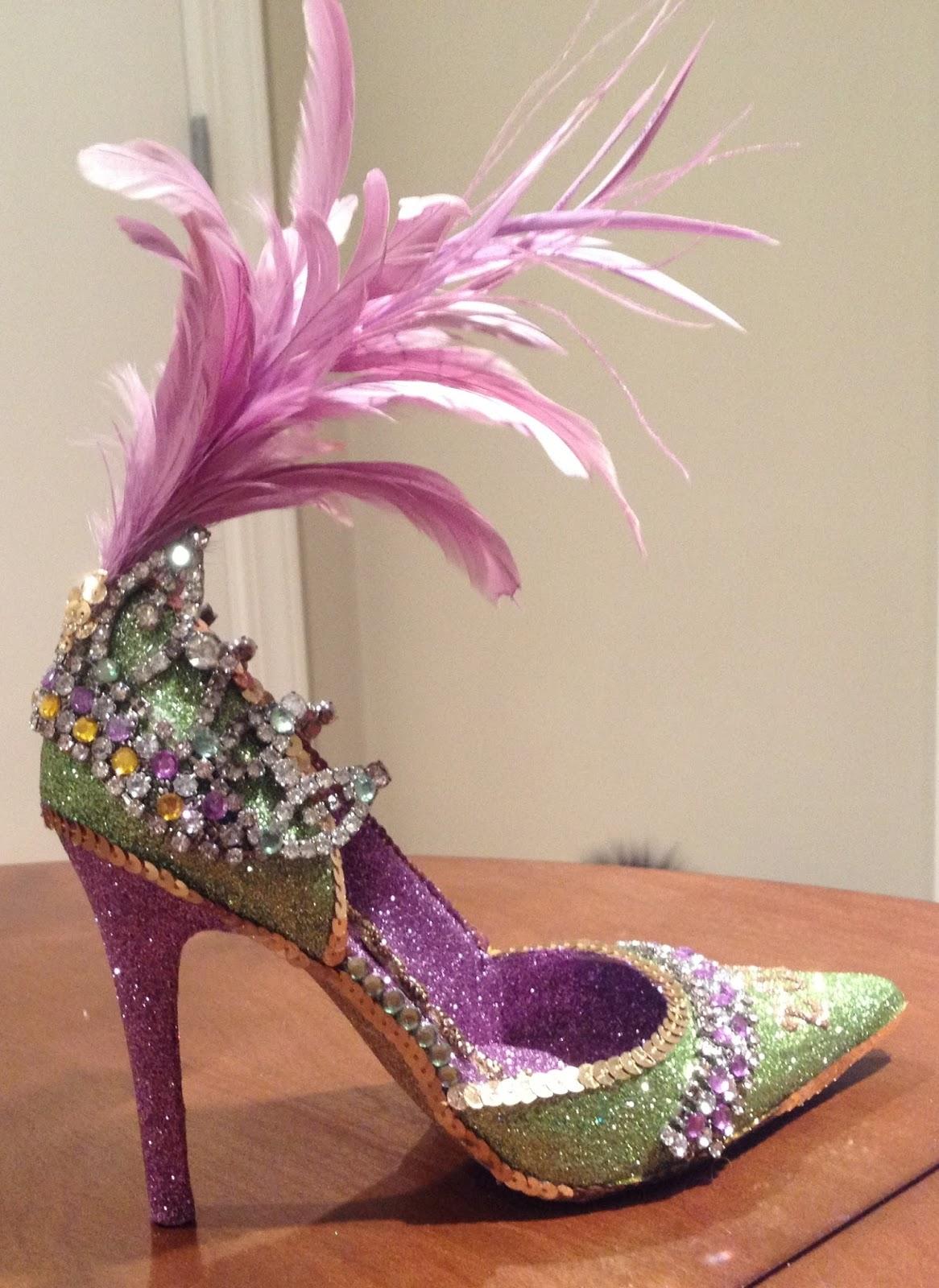 a75a6aeb2f8c Confessions of a glitter addict  Vintage Mardi Gras Shoe
