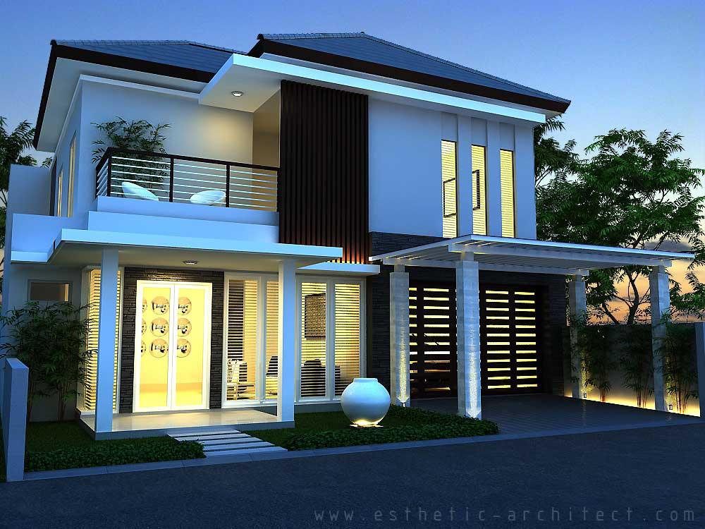Contoh Gambar Rumah Minimalis Type 110 120 130 Terbaru
