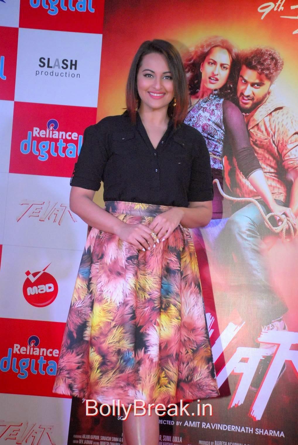 Sonakshi Sinha images, Sonakshi Sinha Hot Pics In Skirt At Reliance Digital Infiniti Mall 2 Malad