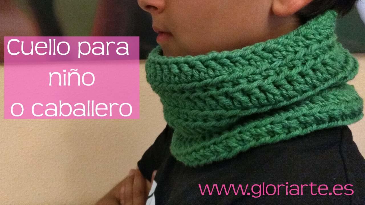 distribuidor mayorista 101be c0009 Cuello de ganchillo para caballero o niño - Gloriarte crochet