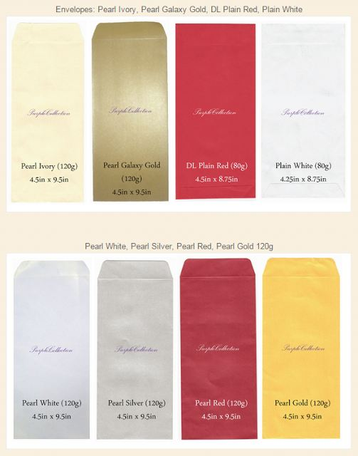 Pearl Envelopes 120g
