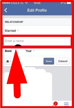 how to change relationship status on facebook via mobile