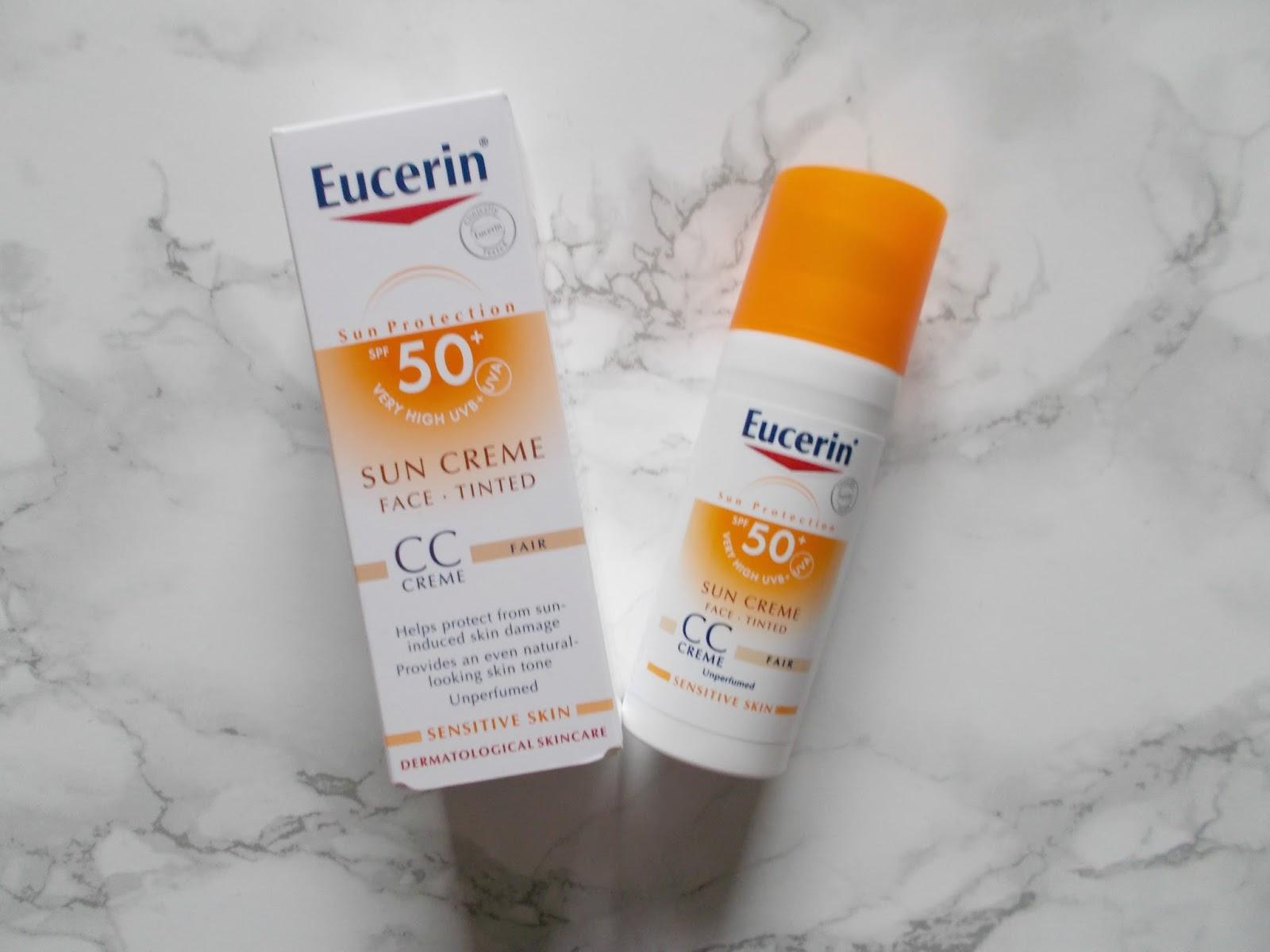 Eucerin spf 50 sun cream cc cream fair tinted