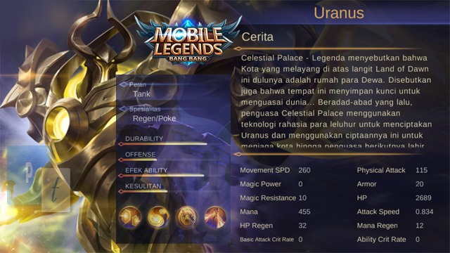 Hero Uranus Mobile Legends