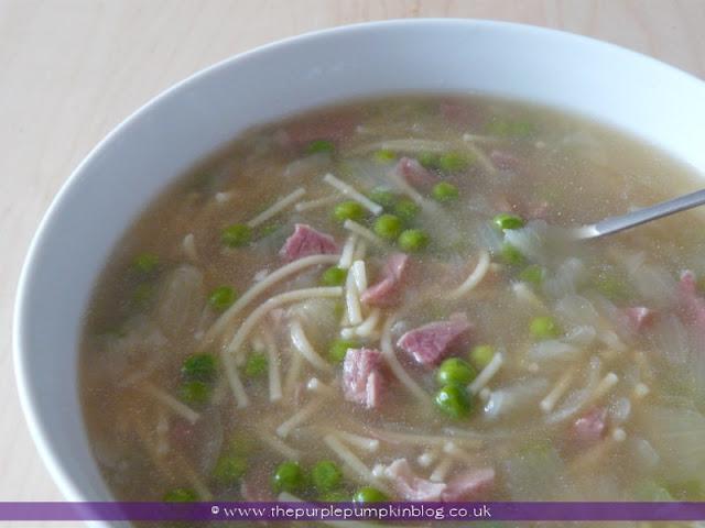 Pea & Ham Soup at The Purple Pumpkin Blog